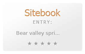 Bear Valley Spri California